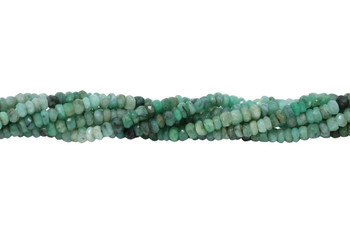 Emerald Polished 3mm Faceted Rondel