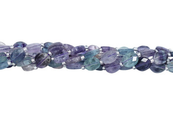 Rainbow Fluorite Polished 8x10mm Faceted Oval