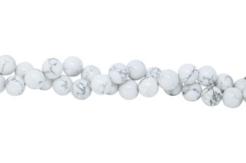 Howlite Polished White 16mm Round