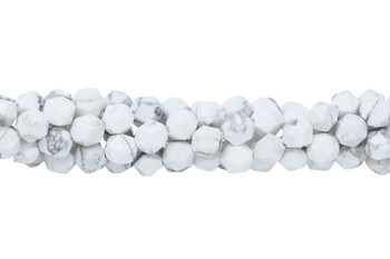 Howlite Polished White 8mm Star Cut