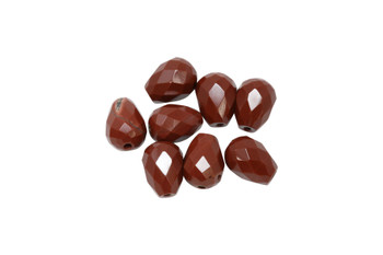 Red Jasper Polished 7x10mm Faceted Drop