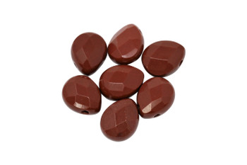Red Jasper Polished 10x8mm Faceted Pear