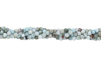 Larimar Polished 3.5mm Faceted Round
