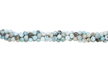Larimar Polished 8mm Faceted Round