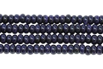Blue Goldstone Polished 4x8mm Rondel