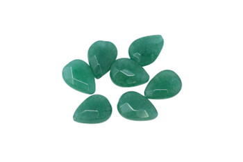 Dyed Jade Polished 9x7mm Faceted Pear