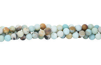 Amazonite Matte Black / Gold 12mm Round