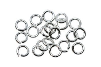 Plated Silver 3mm 22 Gauge OPEN Jump Rings - 20 Pieces
