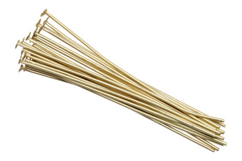 "Satin Hamilton Gold 2"" Long 20 Gauge Head Pins - 20 Pieces"
