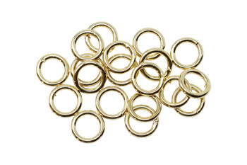 Plated Gold 6mm 18 Gauge CLOSED Jump Rings - 20 Pieces