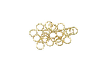 Satin Hamilton Gold 3mm 22 Gauge OPEN Jump Rings - 20 Pieces