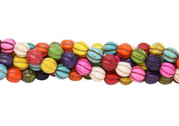 Magnesite Multi Color Polished 10mm Pumpkin