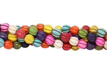Magnesite Multi Color Polished 10mm Pumpkin