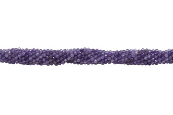 Amethyst Polished 2mm Faceted Round
