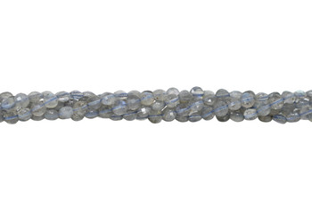 Labradorite Polished 4mm Faceted Coin