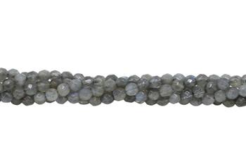 Labradorite A Grade Polished 4mm Faceted Round - Dark