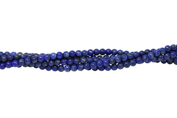 Lapis Polished 4mm Round