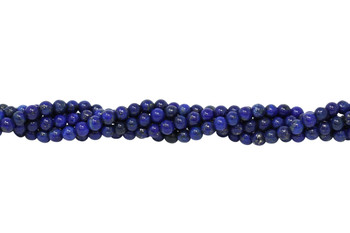 Dyed Lapis A Grade Polished 4mm Round