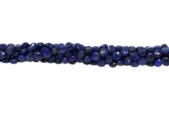 Lapis A Grade Polished 4mm Faceted Coin