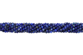 Lapis Polished 3mm Faceted Round