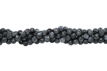 Larvakite Polished 6mm Faceted Round