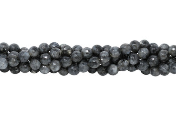 Larvakite Polished 8mm Faceted Round