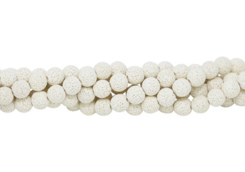 Bead World Exclusive Lava Rock Uncoated White 10mm Round