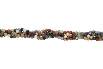 Mixed Gemstones Polished 6mm Round