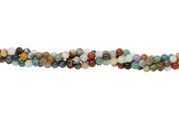 Mixed Gemstones Polished 8mm Round