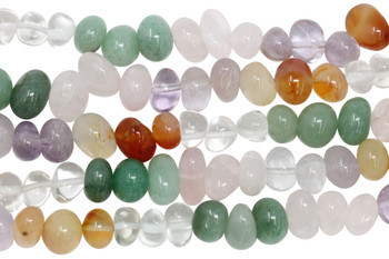 Mixed Gemstones Polished 8x11mm Nuggets