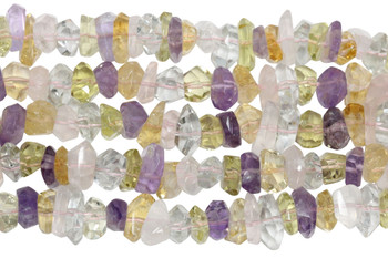 Mixed Gemstones Polished 5-12mm Faceted Nuggets
