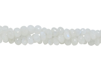 Rainbow Moonstone Polished 6-11mm Faceted Rondel