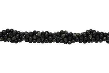 Golden Rainbow Obsidian Grade A Polished 8mm Round