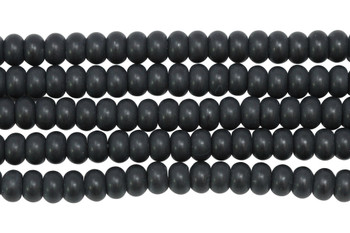 Black Onyx Matte 5x8mm Rondel