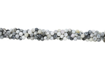 Grey Opal Polished 8mm Faceted Round