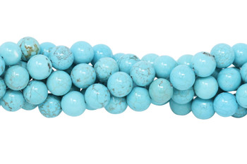 Howlite Turquoise Polished 10mm Round