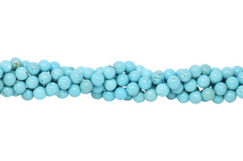 Howlite Turquoise Polished 10 mm Round