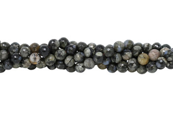 African Grey Opal Polished 8mm Faceted Round