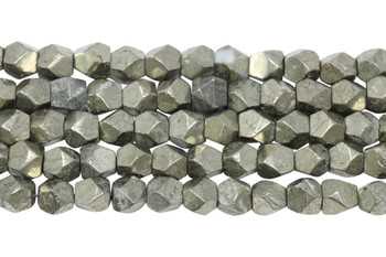 Pyrite Polished 8x10mm Faceted Nugget