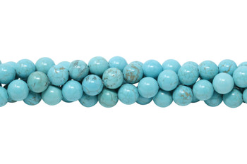 Howlite Turquoise Polished 8mm Round