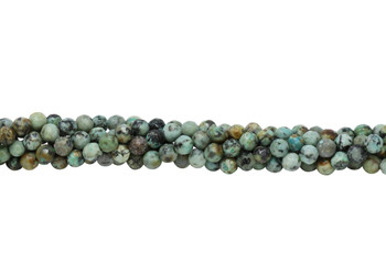 African Turquoise Polished 4mm Faceted Round