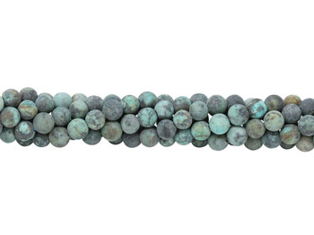 African Turquoise Matte 6mm Round