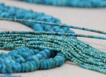 American Turquoise Polished 2mm Faceted Round