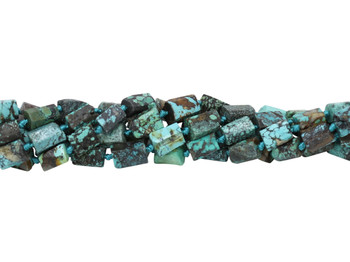 Chinese Turquoise Polished 8x12mm Faceted Tube