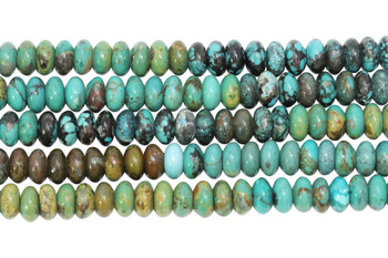 Chinese Turquoise Polished 8mm Rondel