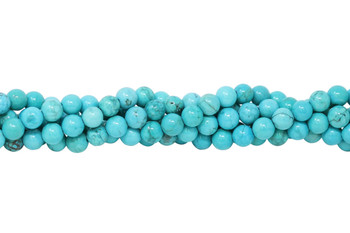 Howlite Turquoise Polished 6mm Round