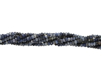 Sapphire Polished 3mm Faceted Rondel