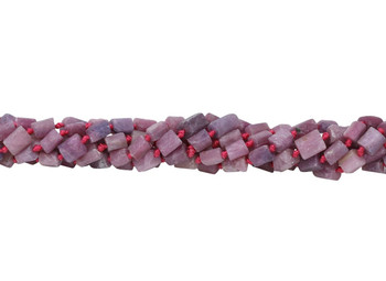 Ruby Natural 6-8mm Faceted Tube