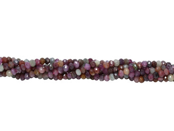 Sapphire Multi Color Polished 3mm Faceted Rondel