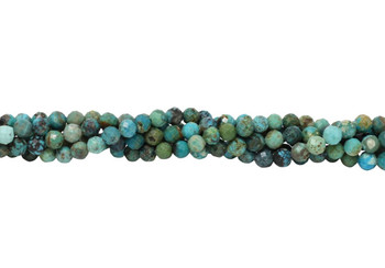 Chinese Turquoise Polished 5mm Faceted Round